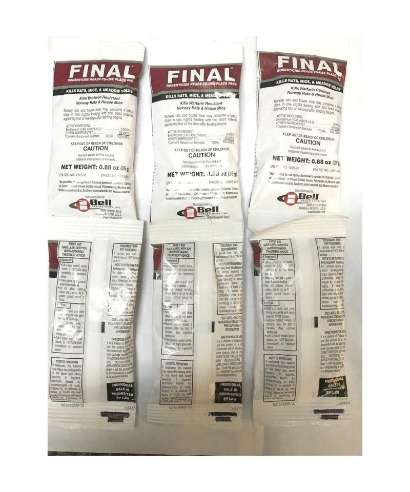 6 bolsas de veneno para ratas marca final productos - El mejor veneno para ratones ...